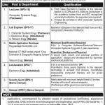 University of Engineering & Technology Peshawar Jobs 2013