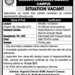 Various Jobs At  NUML Karachi