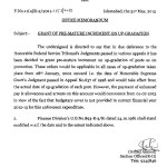 Finance Division Notification Of Pre-Mature Increment On Up-Gradation