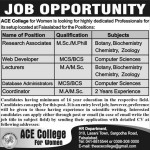 ACE College Job for Women 2013