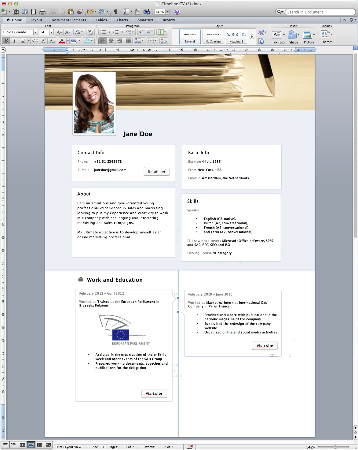 cv new format - Resume Writing Latest Format