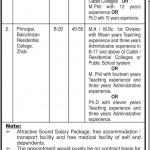 Govt of Baluchistan Colleges Jobs 2013