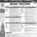 Staff Required For GC University Lahore 2013
