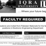 Staff Needed At Iqra University Islamabad