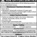 Job Opportunity in Dar e Arqam School Abbottabad