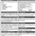 Public School Sukkur Jobs 2014