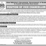 Vice Chancellor Required At Shaheed Benezeer Bhutto University Larkana