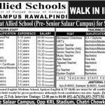 Staff Required At Allied Schools Rawalpindi 2014