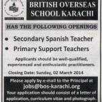 Career Opportunity in British Overseas School Karachi