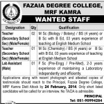 Fazaia Degree College Kamra Jobs