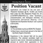 GC University Lahore Job 2014