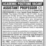 International Center for Chemical and Biological Sciences University of Karachi Jobs