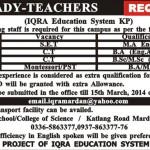 Lady Teacher Jobs In Iqra Education System In Mardan