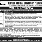 Lecturer Teaching Assistant Required In Khyber Medical University Peshawar