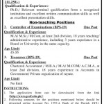 Positions Vacant in Public Sector Educational Institution 2014