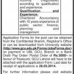 GC University Lahore Jobs 2014