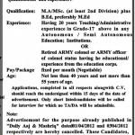 Principal Jobs In Elementary Secondary Education Department Peshawar