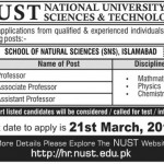 Professor Jobs In National University of Science & Technology