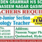 Teachers Required In Eden Grammar School Qasimabad