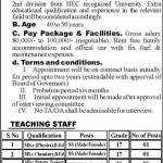 Principal,SS,SST Required in District Public School and Inter College Khushab