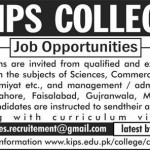 Lecturer Jobs in KIPS College Multan