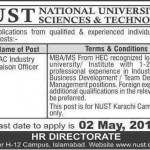 NUST Jobs in Pakistan Islamabad Jobs
