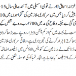 10% Increase in Pay & Pension in Budget 2014-15 for Govt. Employees in Pakistan