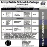 Army Public School And College Kharian Job 2014