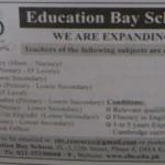 Teachers wanted in EDUCATION BAY School