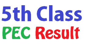 Click for PEC Result 2019 for 5th Class