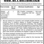 English Teacher Required Cadet College Hasan Abdal
