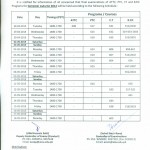 ATTC, PTC, CT & B.ED Programs Datesheet Autumn 2014