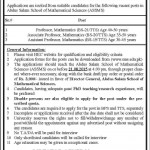 Abdus Salam School Of Mathematical Sciences Job 2015