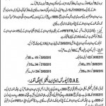 GCT Multan DAE Morning Shift Admission Notice 2015