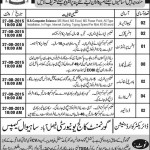 Staff Required At Government College Faisalabad