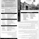National College of Arts Lahore Admission in Bachelor of Architecture 2015