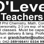 O Level Teachers Jobs At Lahore School