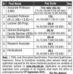 National Defence University Jobs 2015