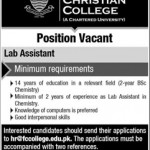 Forman Christian College Job 2016