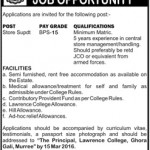 Lawrence College Murree Jobs 2016