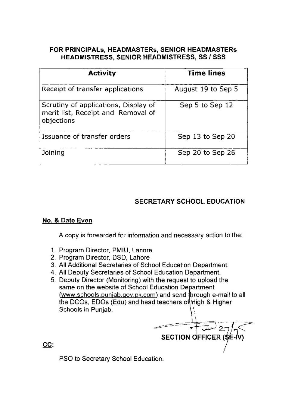 Lifting of Ban Posting Transfer School Education Department Punjab Pakistan 2016-page-002