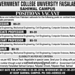 Faculty Required At Govt College University Faisalabad 2016