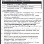 Abdusalam School Of Mathematical Sciences Jobs