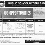 Public School Hyder Abad Jobs 2016