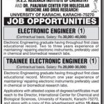 Jobs At University of Karachi 2016
