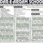 Dar E Arqam Schools Lahore Jobs 2017