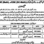 Educators Interview Schedule ESE Science Math & SSE Math 2017 Lodhran