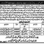 Interview Schedule Educators ESE Science Math & SSE Math Gujranwala 2017