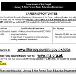 Literacy And Non Formal Basic Education Department Job Islamabad 2017