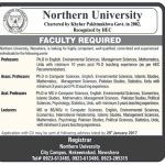 Northren University Nowshera Jobs 2017
